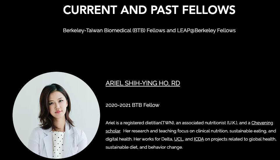 Berkeley-Taiwan Biochemical Fellowship BTB@LEAP